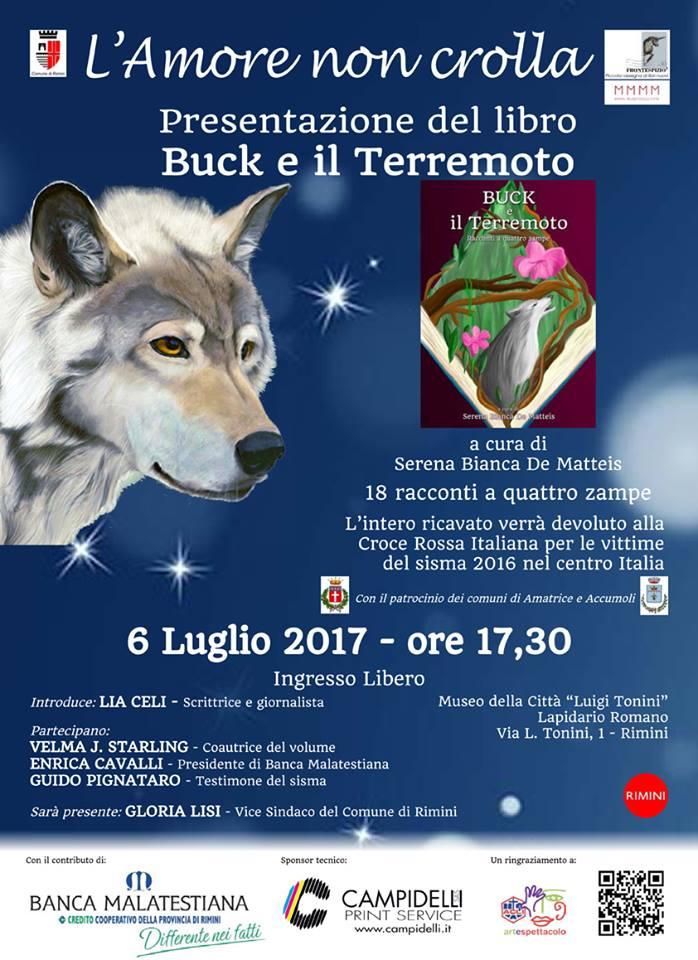 Presentazione di Buck e il Terremoto – 6 luglio 2017 Rimini